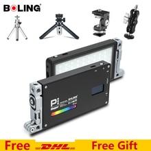 Boling BL P1 rgb P1 2500k 8500 18k調光可能なフルカラーledビデオライト写真一眼レフカメラvloggingためライブ