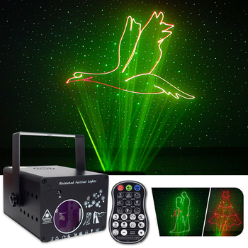 colorful  stage laser light remote RGB DMX 512 Scanner Projector Party DJ Disco Show Lights club music equipment Beam lighting alien remote dmx512 200mw rgy laser stage lighting scanner effect dance dj disco party show light xmas projector lights