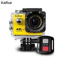 1 pièces J7000R Sport Action caméra Ultra HD 4K WiFi 1080P 150D 2.0 pouces écran étanche casque de vélo Cam Mini caméra vidéo