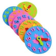 Manual de ensino do jardim de infância diy eva relógio aprendizagem precoce educação do bebê crianças brinquedos montessori auxiliares ensino matemática brinquedos