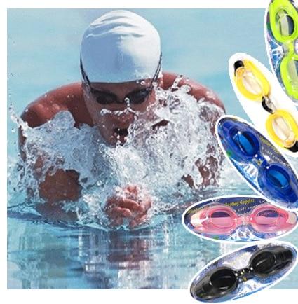 High-definition Glasses Goggles Big Box Waterproof Anti-fog Swimming Plain Glass Men And Women/Children Send Earplug Nasal Splin