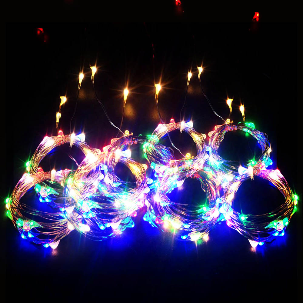 Garland Curtain 3Mx3M Fairy Lights Christmas Lights Indoor 3Mx1M Festoon LED Light Garland LED Christmas Decorations for Home