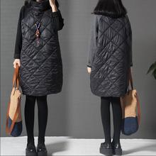 Autumn and winter new loose large size womens high-collared cotton splice long-sleeved dress