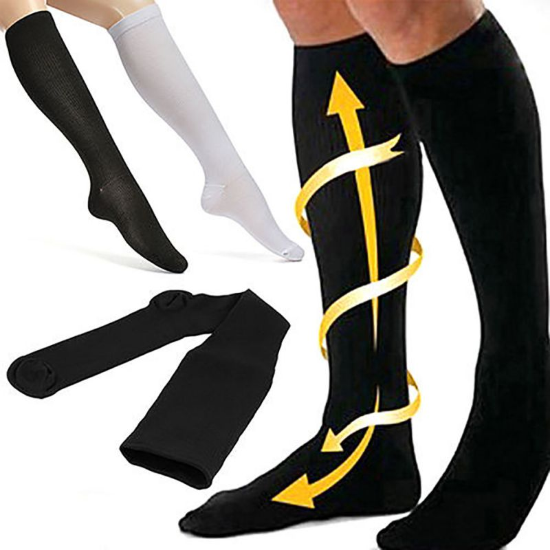 New Unisex Socks Compression Stockings Pressure Varicose Vein Stocking Knee High Leg Support Stretch Pressure Circulation