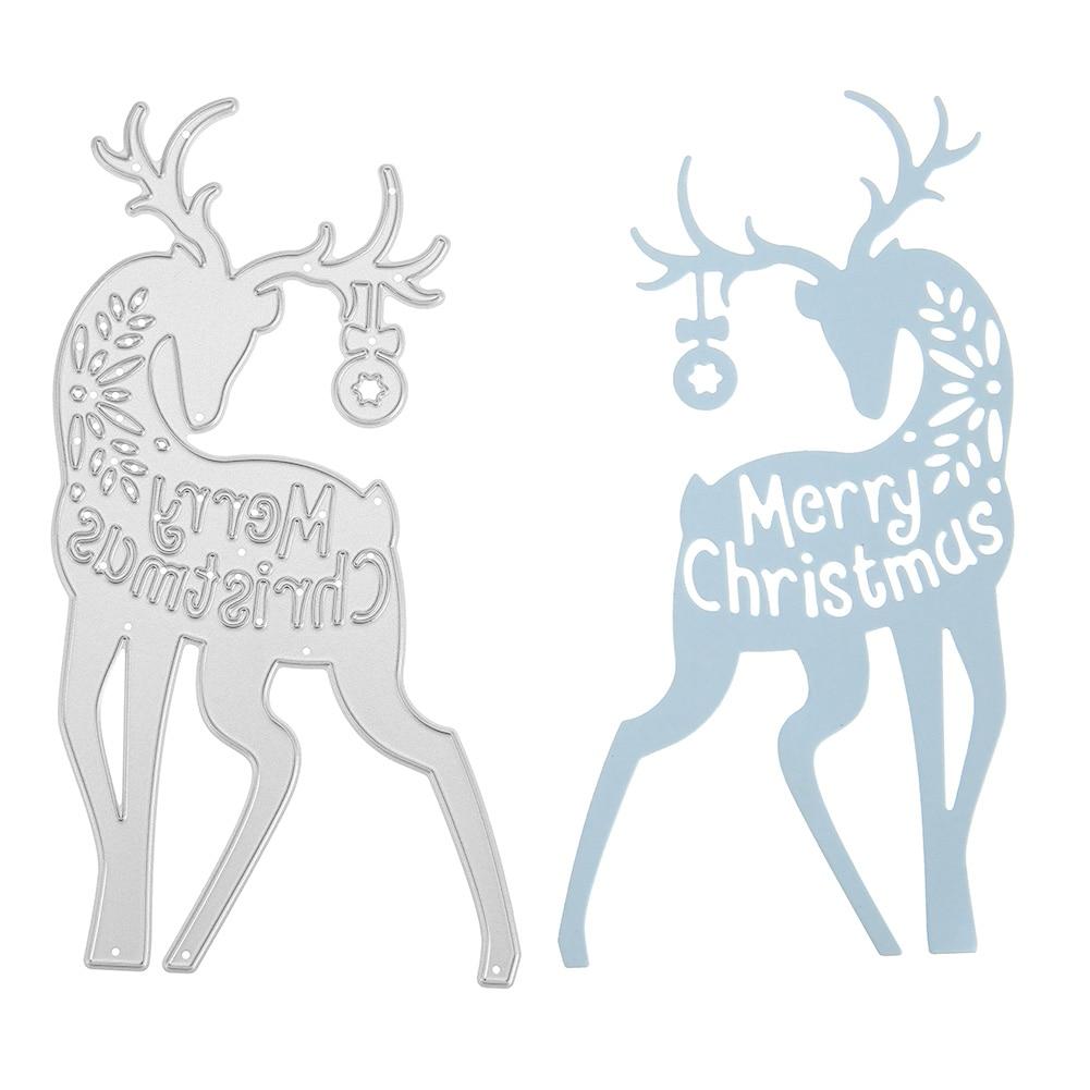 Merry Christmas Metal Cutting Dies Stencils For DIY Scrapbooking Card Making