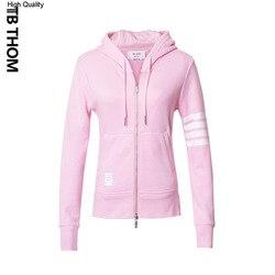 2020 marke frauen rosa mit kapuze sweatshirts dünne beiläufige zipper up hoodies frauen frühling mode baumwolle sport jacke dame