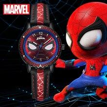 Big Sale Young Men Spider Man Watch Children Super Marvel Wristwatches Luminous Waterproof Good Clock Kids Watches Boys Gift New