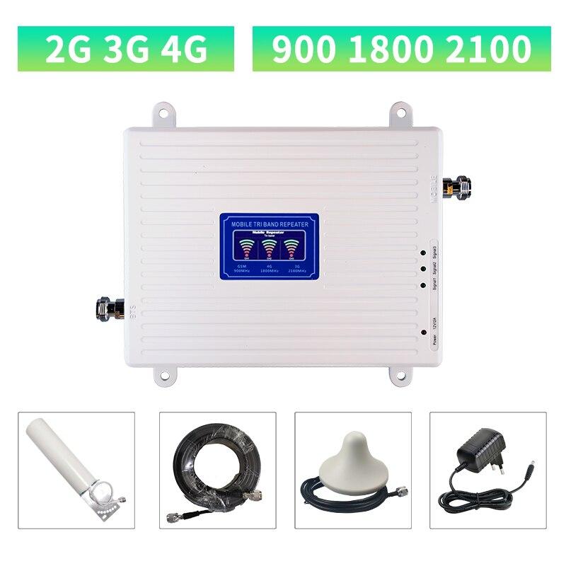 2g 3g 4g Celular Sinal De Reforço Gsm 900 1800 2100 GSM WCDMA UMTS Repetidor Celular LTE 900/1800/2100mhz Amplificador