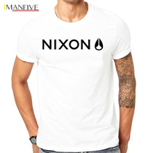 Men t-shirt Camiseta Nixon black blouse shirt 100% cotton EUR size XXXL Short  Casual  Cotton  t shirt game over pattern cotton short sleeves t shirt for men white size xxxl