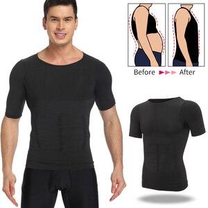 Image 1 - Herren Body Shaper Bauch Control Shapewear Mann Shapers Modellierung Unterwäsche Taille Trainer Korrektur Haltung Abnehmen Weste Korsett