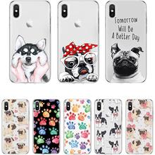 Dog cover for iPhone X XR 11Pro MAX 6 5S 7 8 Plus Fundas TPU