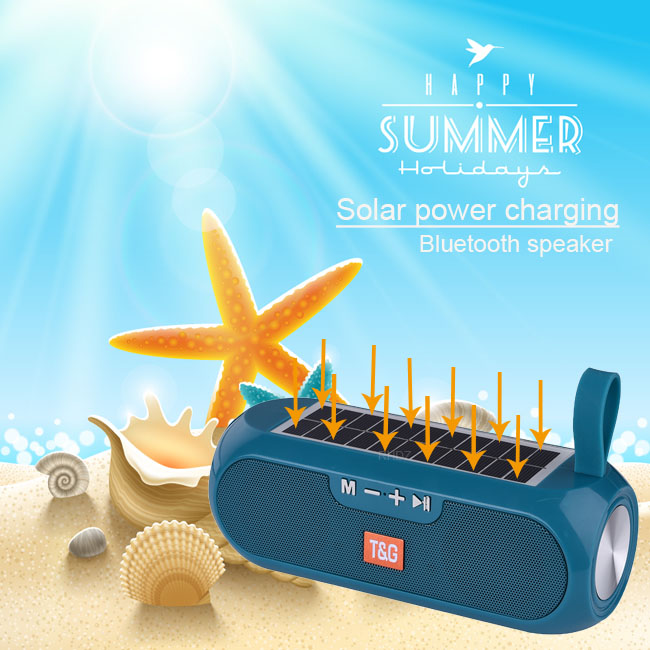 Altavoces TWS con bluetooth, columna portátil, caja de música estéreo inalámbrica, cargador Solar, Boombox MP3, altavoz para exteriores, resistente al agua
