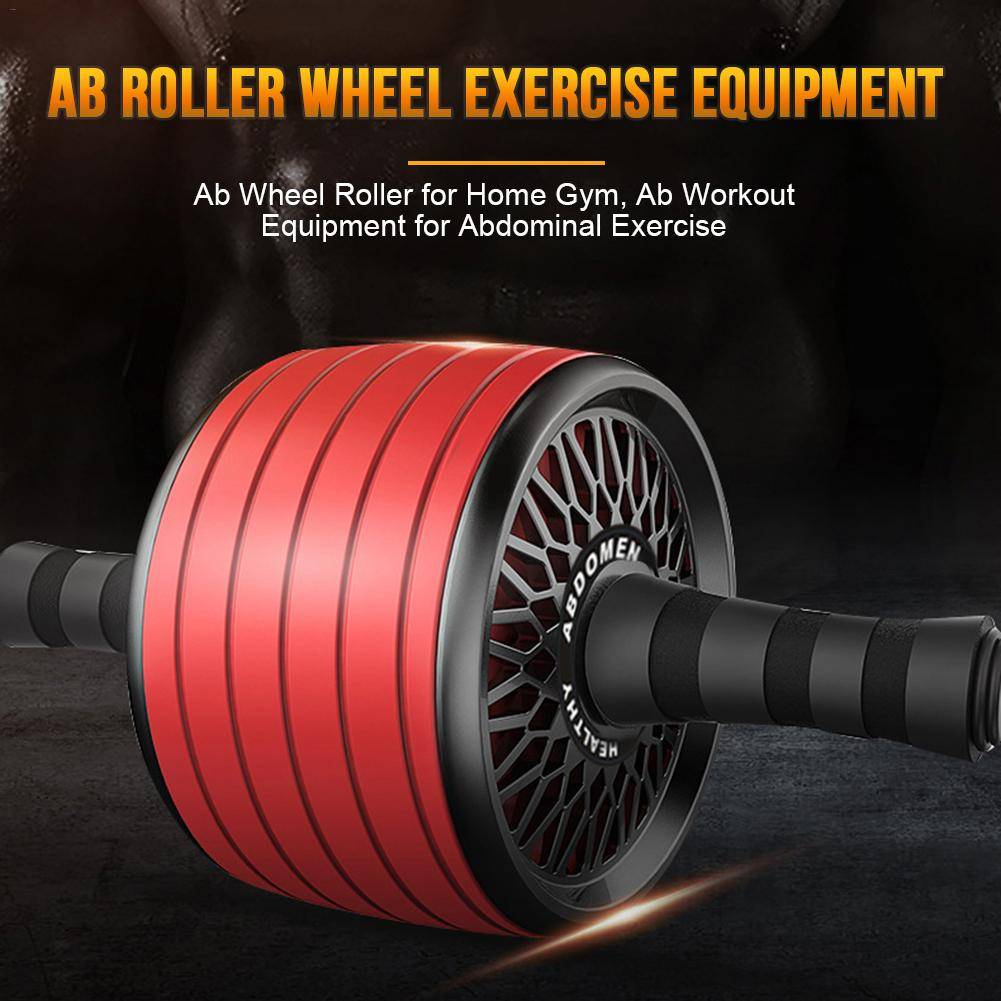 New Abdominal Wheel Roller Trainer Fitness Equipment Gym Home Exercise Body Building Ab Roller Wheel For Man Women Sport image