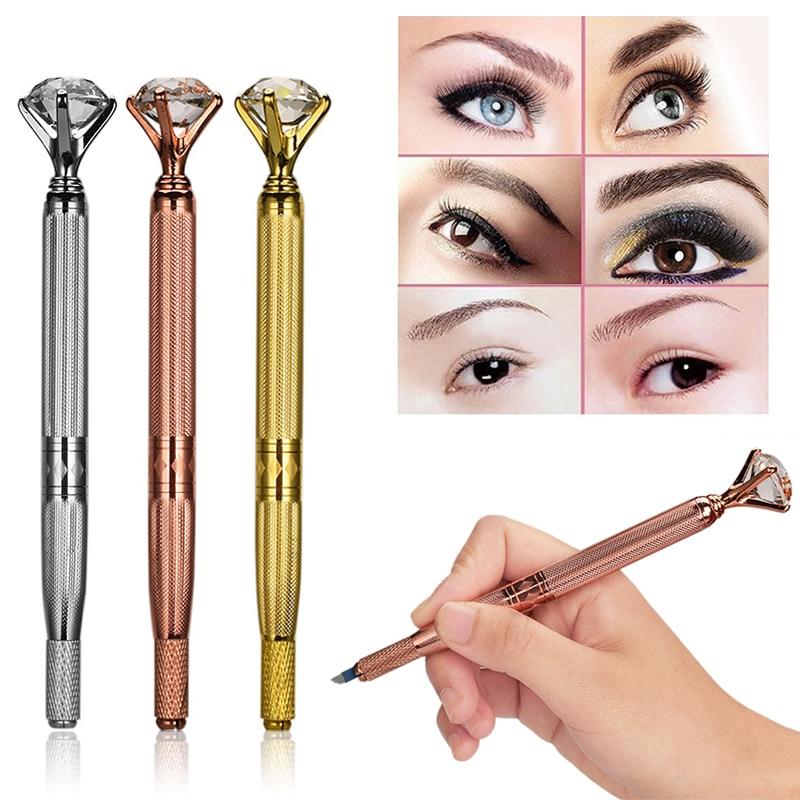NEW 3D Eyebrow Lip Embroidery Munsu Tebori With Diamond Eyebrow Manual Pen Microblading Tattoo Machine For Permanent Makeup Tool