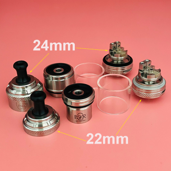 Sharevape – atomiseur Berserker v2 MTL RTA BSKR Mini v2 MTL RTA, réservoir à bobine simple de 22mm 24mm