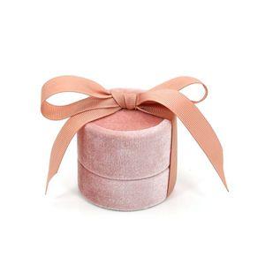 Кулон ожерелье коробка ювелирных изделий круглый бант свадебное кольцо серьги Дисплей Чехол