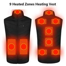S-6XL 9 Heated Zones Heating Vest Washable Usb Charging Heating Warm Vests Control Temperature S-4XL In Stocк уртка с подогревом