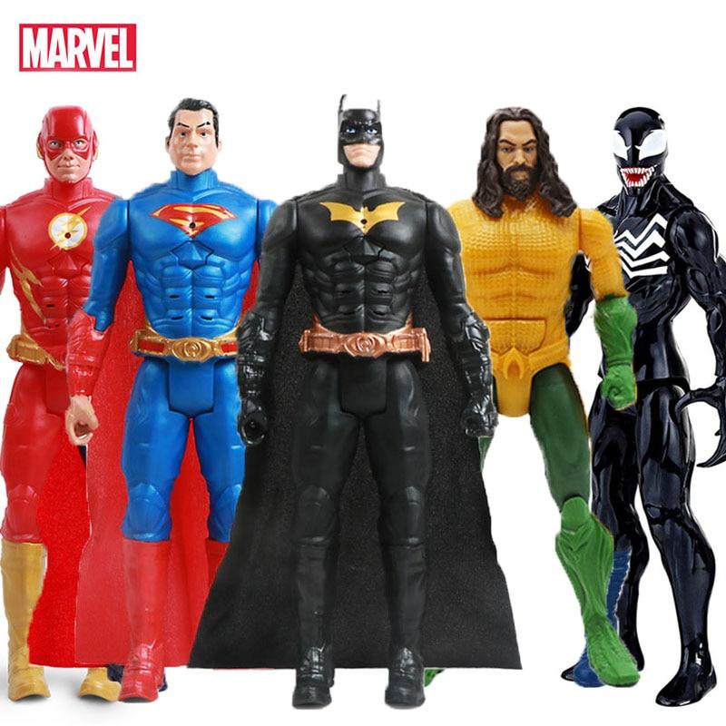 12 Inch/30cm Marvel Avengers Batman Spiderman Venom Thanos Iron Man Hulk Wolverine Action Figure Model PVC Hot Toys For Children