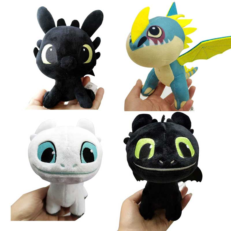 15cm/18cm Mini Movie How To Train Your Dragon Night Fury Toothless Girlfriend Soft Plush Toys For Children Gift For Christmas