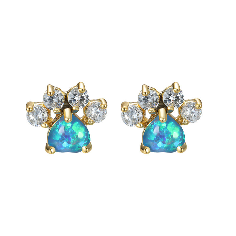 Gold Blue Opal