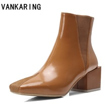shoes women genuine leather ankle boots classic fashion chelsea high heel ladies booties spring autumn dress shoe boots platform lin king womens faux leather ankle boots platform high heel booties for women fashion buckle winter dress shoes martin boots