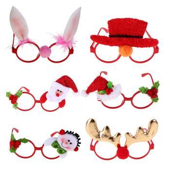 Boże narodzenie okulary ramki boże narodzenie strona dostaw boże narodzenie prezenty święty mikołaj okulary tanie i dobre opinie
