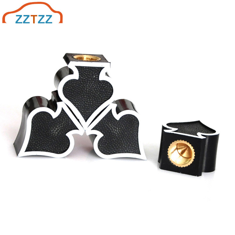 ZZTZZ  4Pcs/lot Universal Moto Bike Car Tires Wheel Valve Cap Dust Cover Car Styling For Universal Cars Motorcycle Decorative