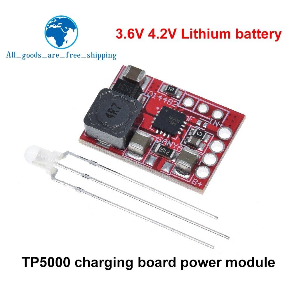 TP5000 DC 4,5 v-9v 4,2 V/3,6 V 1A литиевая батарея, зарядная плата, литий-железо-фосфатное зарядное устройство, модуль питания для вспышки