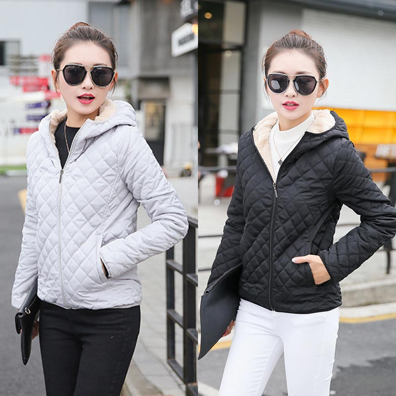 Parkas Hot Sale   Basic     Jackets   2020 New Cotton 1PC Popular Hooded Coats High Quality Autumn Female Winter Lamb Women Plus Velvet