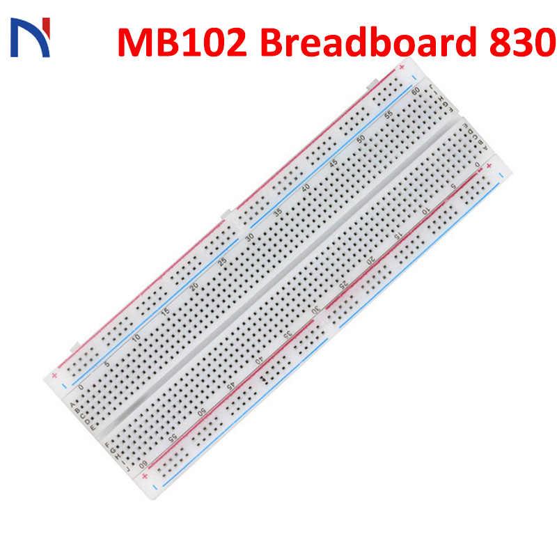 MB-102 MB102 830 Points Breadboard Solderless PCB Protoboard Board Test