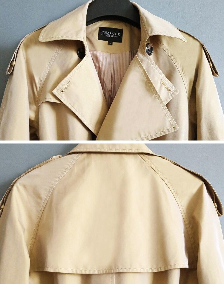 Trench couleur changeante hommes sur le genou long trench manteau hommes 2019 printemps automne britannique long manteau jeune! S 6XL - 6