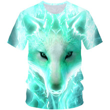 T-Shirt Boys Girls Short-Sleeve Cool Animal 3d-Printed Funny Summer Kids 4-20Y Newest-Wolf