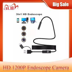 Image 1 - 1200 1080p アンドロイド PC 内視鏡カメラ USB TypeC 検査内視鏡半硬質 1 メートル 2 メートル 3.5 メートル 5 メートルワイヤー Led ライトボアスコープカメラ