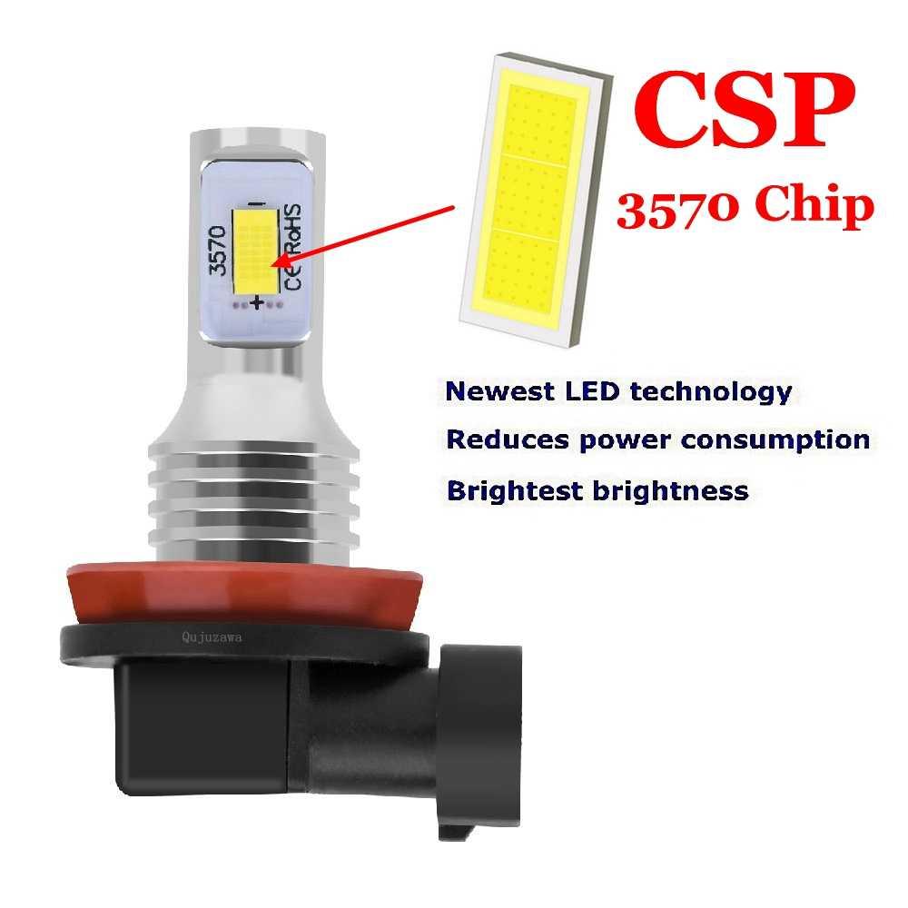 2 pçs nova h8 h11 hb4 9006 alta qualidade csp lâmpadas led carro anti nevoeiro lâmpadas de condução automóvel correndo luz frente fogamps 6000 k branco