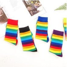 14 PCS = 7 pairs women's socks autumn and winter new rainbow