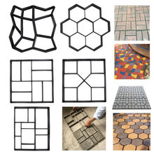 Форма для самостоятельного изготовления дорожек, форма для каменного кирпича, бетона, бетона, цемента, прогулок, садовых дорожек, тротуарно...