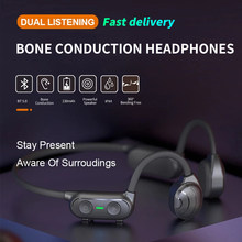 AS10 Wireless Stereo Headset Bone Conduction Headphone Bluetooth 5.0 Noise Reduction Sport Music Earbuds Waterproof Earphone