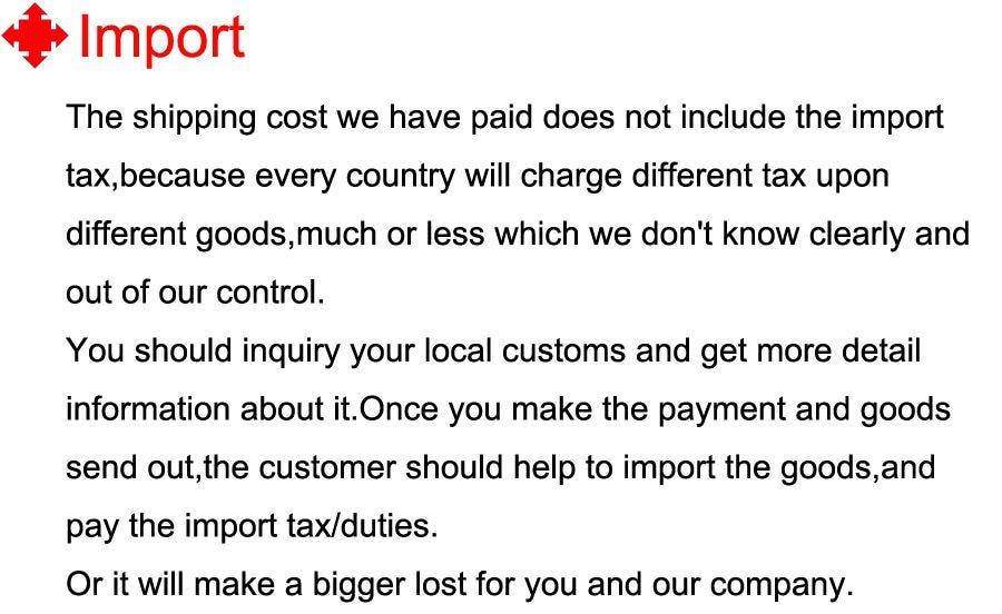 10 Import tax