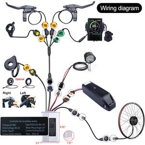 Image 4 - Bafang 48V 500W Brushless Gear Hub Motor E bike Motor G020.500 Rear Wheel Drive Electric Bike Conversion Kit Bicycle for Adult