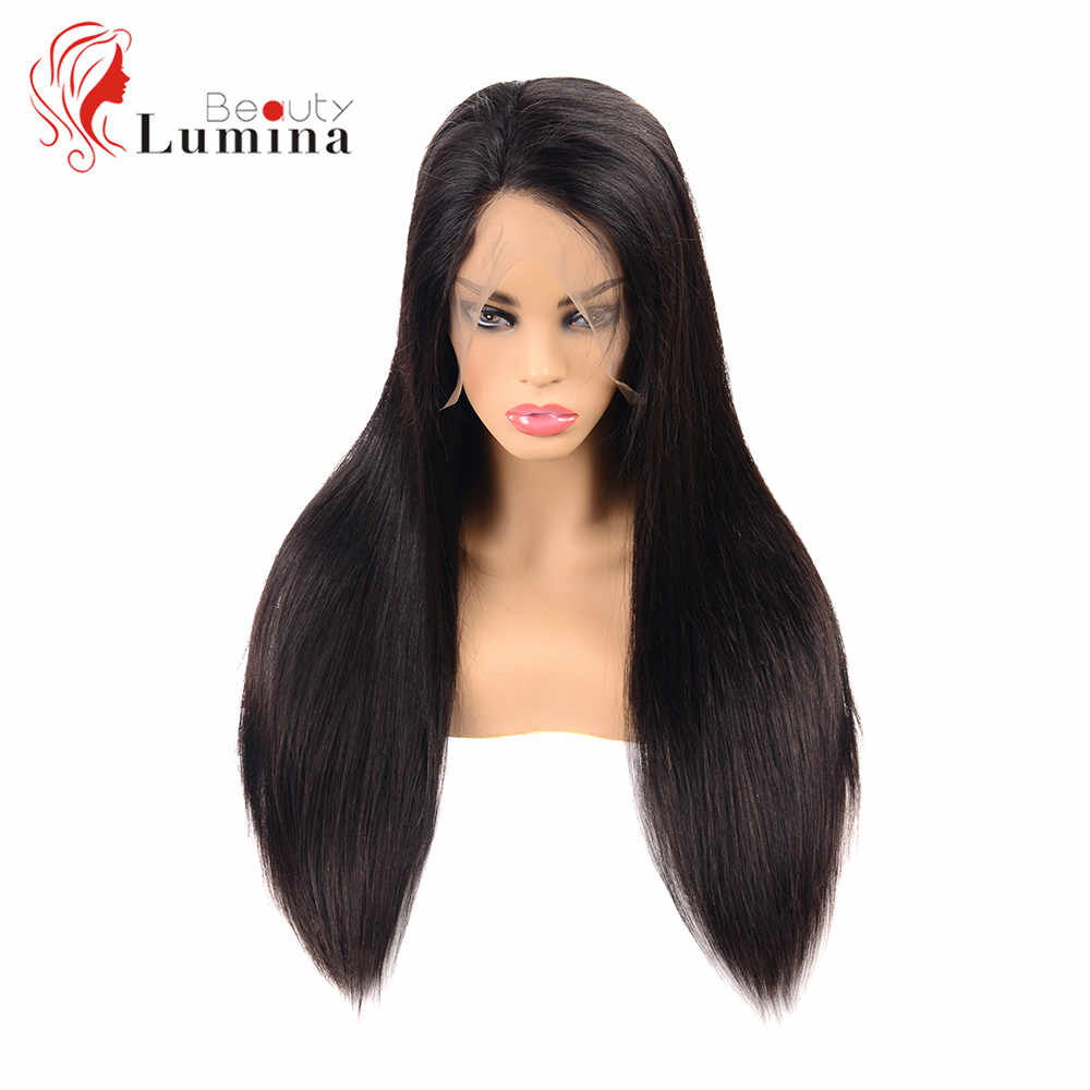 Full Lace Wig Human Hair Brazilian Lace Front Wigs With Baby Hair 180% Density Straight Lace Front Wig Pre plucked Natural Hair