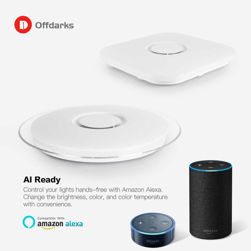 Offdarks современный светодиодный потолочный светильник Bluetooth Динамик с пультом дистанционного управления Управление приложение Гостиная Спальня потолочный светильник для кухни светодиодный лампы