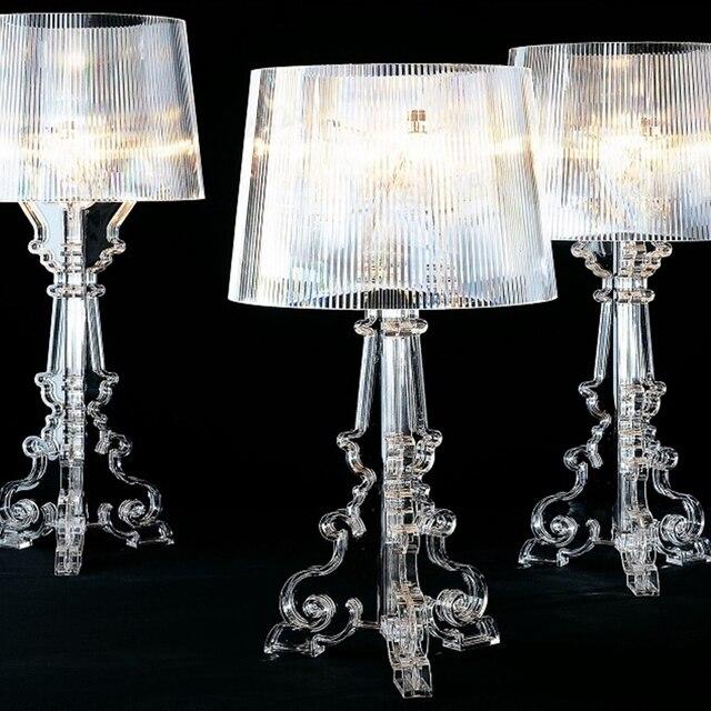 Hiện đại Ma Bóng Trong Suốt Acrylic Trong Suốt Để Bàn Đèn Phòng Ngủ Đầu Giường Học Acrylic Đèn Để Bàn Đơn Giản Nhẹ Nhàng