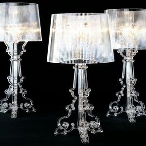 Image 1 - Moderne Ghost Shadow Helder Transparant Acryl Tafel Lampen Slaapkamer Bed Studie Acryl Bureau Lampen Eenvoudige Licht