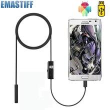 7 мм эндоскоп камера Гибкая IP67 водонепроницаемый микро USB инспекционный бороскоп камера для Android ПК ноутбук 6 светодиодов регулируемый
