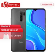 Xiaomi-Telefon komórkowy Redmi 9 Helio G80 32 64GB ekran 6 53 #8243 FHD+ poczwórny aparat 13MP SI smartfon 5020mAh tanie tanio Nie odpinany CN (pochodzenie) Android Rozpoznawania twarzy Inne Nonsupport Smartfony Bluetooth 5 0 Pojemnościowy ekran