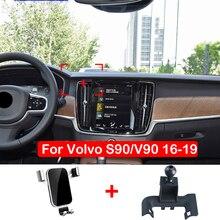 ผู้ถือโทรศัพท์มือถือสำหรับ Volvo S90 V90 2016 2017 2018 2019แดชบอร์ดผู้ถือโทรศัพท์ GPS คลิป Clamp Stand รถอุปกรณ์เสริม