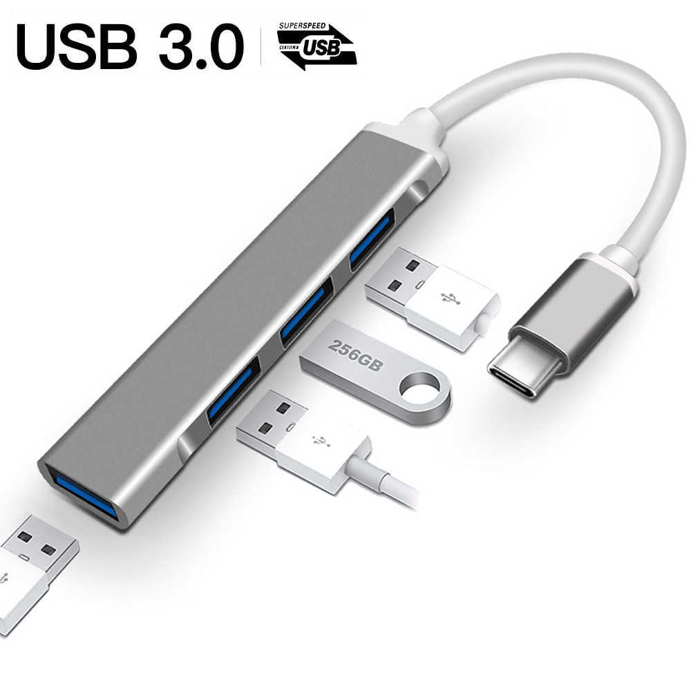 USB C HUB USB 3,0 HUB USB Splitter Thunderbolt 3 USB-C Adapter OTG für Macbook Pro 13 15 Air Pro matebook