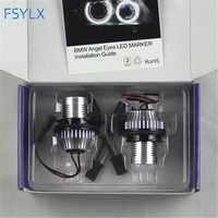FSYLX 10W 6000K LED Yeux D'ange pour bmw e60 indicateur LED Lumières Anneaux de Halo pour BMW E39 E53 E65 E66 E60 E61 E63 E64 E87 style de voiture