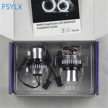 FSYLX 10W 6000K led Angel Eyes for bmw e60 LED Marker Lights Halo Rings for BMW E39 E53 E65 E66 E60 E61 E63 E64 E87 car styling - DISCOUNT ITEM  15% OFF All Category