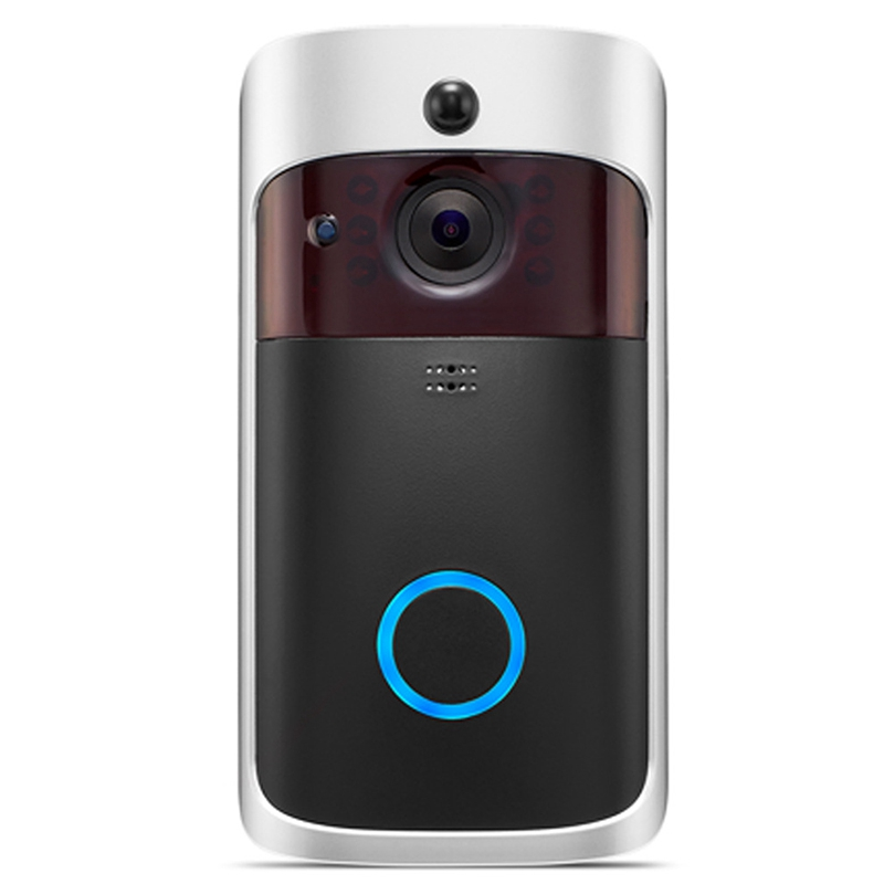 AMS-Wireless WiFi Video Doorbell 720P Camera Visual Intercom With Chime Door Bell Wireless Home Security Camera